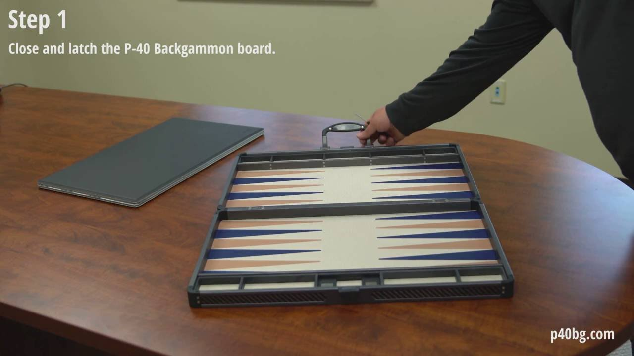 backgammon starting board