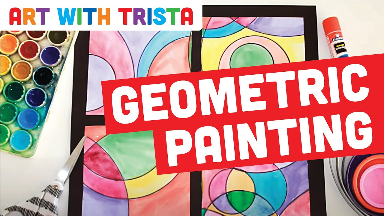Art With Trista Geometric Shape Painting Step By Step