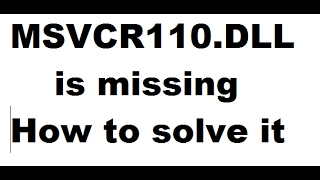 Wamp error MSVCR110.DLL is missing - How to solve it