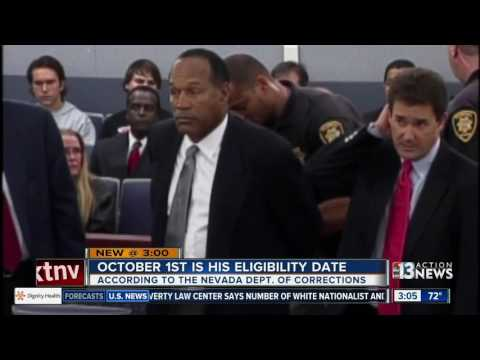 O.J. Simpson could be paroled from Nevada prison later this year