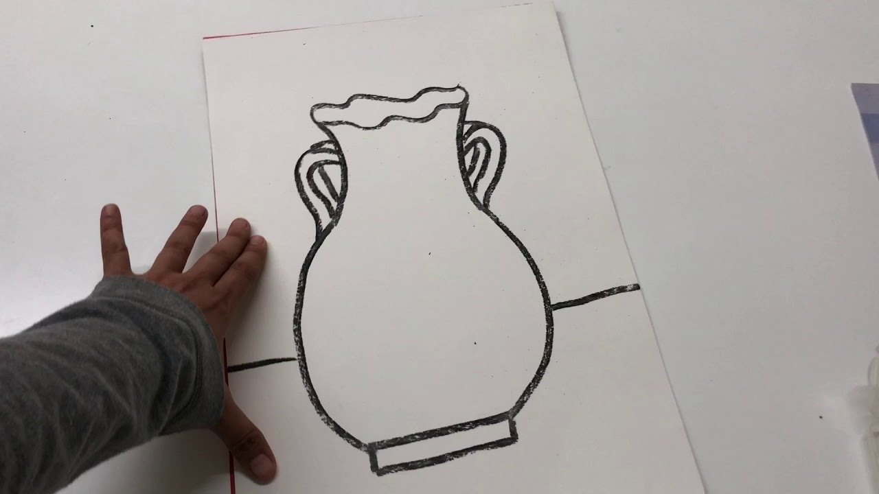 رسم جرة فخار