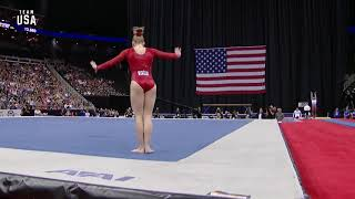 Jade Carey Floor Routine | Champions Series Presented By Xfinity