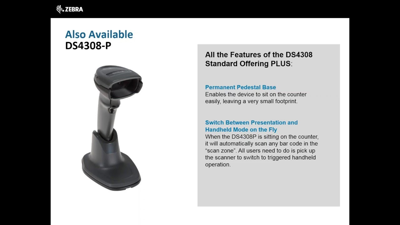 Zebra Technologies: DS4308 Barcode Scanners