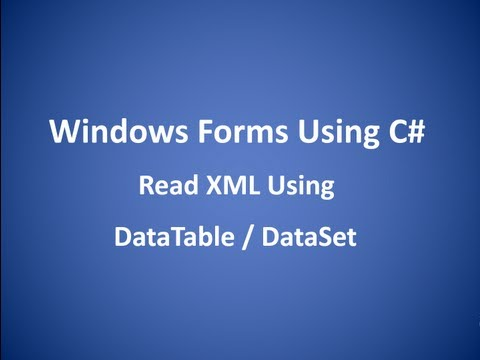 Read XML File Using DataTable DataSet in C#