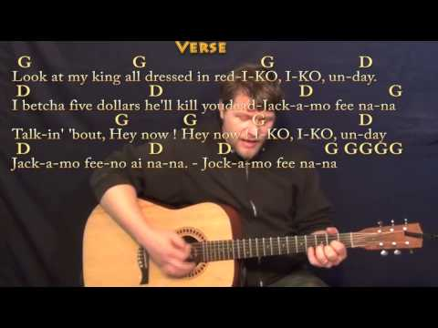 Iko Iko (The Dixie Cups) Strum Guitar Cover Lesson in G with Chords/Lyrics
