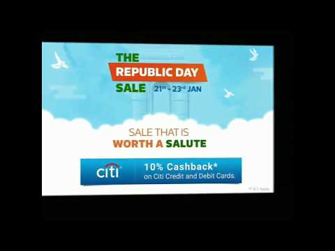 Flipkart  The Republic day sell -21st to 23rd Jan mobile offers