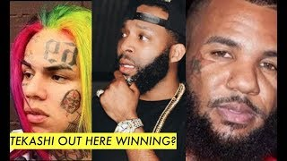 The GAME WANTS PROBLEMS with 6IX9INE BAD, Tekashi Says 'I Pull Up You Dont' J Prince Jr PULLS UP