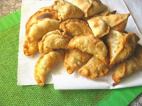 ДОМАШНЯЯ САМБУСА. SAMBOUSA HOMEMADE Арабские хрустящие жареные пирожки с мясом и с овощами