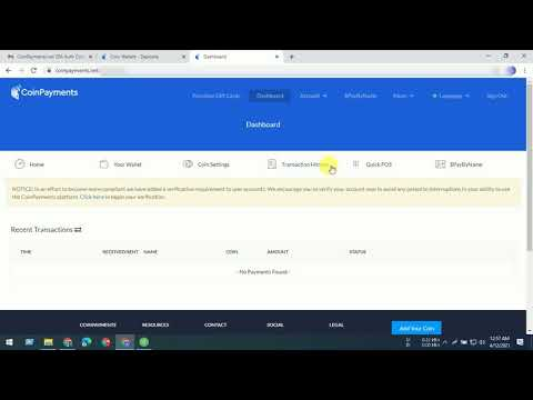 How to create CoinPayments account? Cryptocurrency wallet send and receive payments.