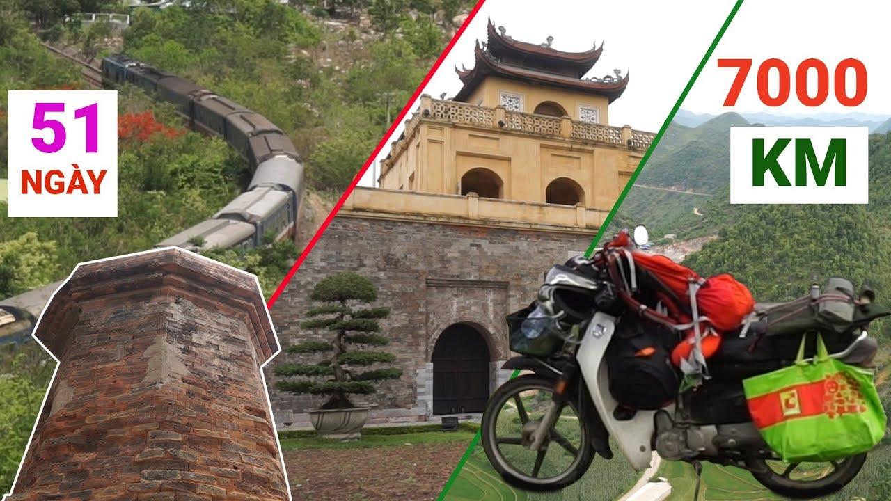 Hành trình XUYÊN VIỆT ĐỘC HÀNH trong 51 NGÀY và 7000 KM | TRAVEL IN VIETNAM