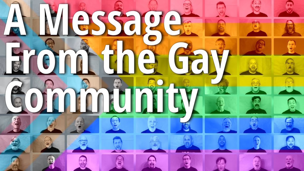 """""""A Message From the Gay Community"""" Performed by the San Francisco Gay Men's Chorus"""