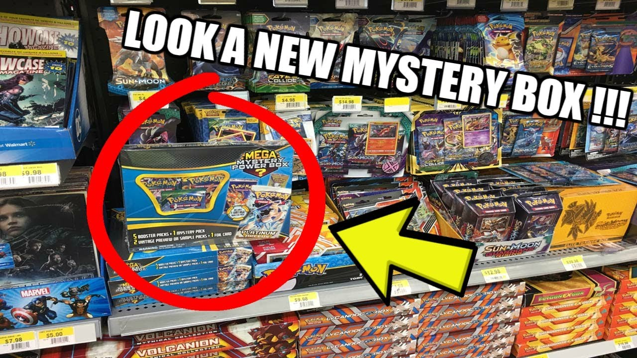 2f1ce9c8ad NEW MEGA MYSTERY POWER BOX! Opening Pokemon Cards from Walmart - YouTube