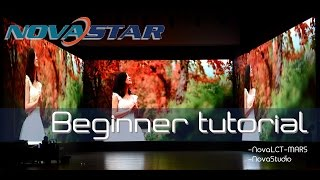 LED screen/ LED sign/ LED display control software Novastar beginner tutorial