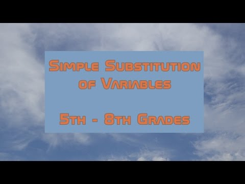 Simple Substitution of Variables