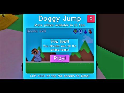 Roblox Bubble Gum Simulator Doggy Roblox Bubble Gum Simulator Doggy Jump 650 Score Youtube