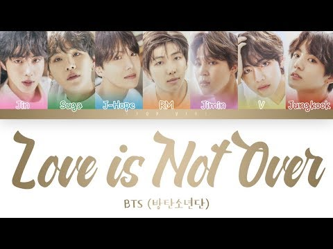 BTS 방탄소년단 – Love is Not Over  length edition Color Coded  HanRomEng