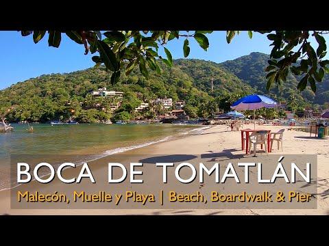 Boca de Tomatlán muelle malecón y playa 08/12/2019 Boca de Tomatlan Boardwalk & Beach Jalisco Mexico
