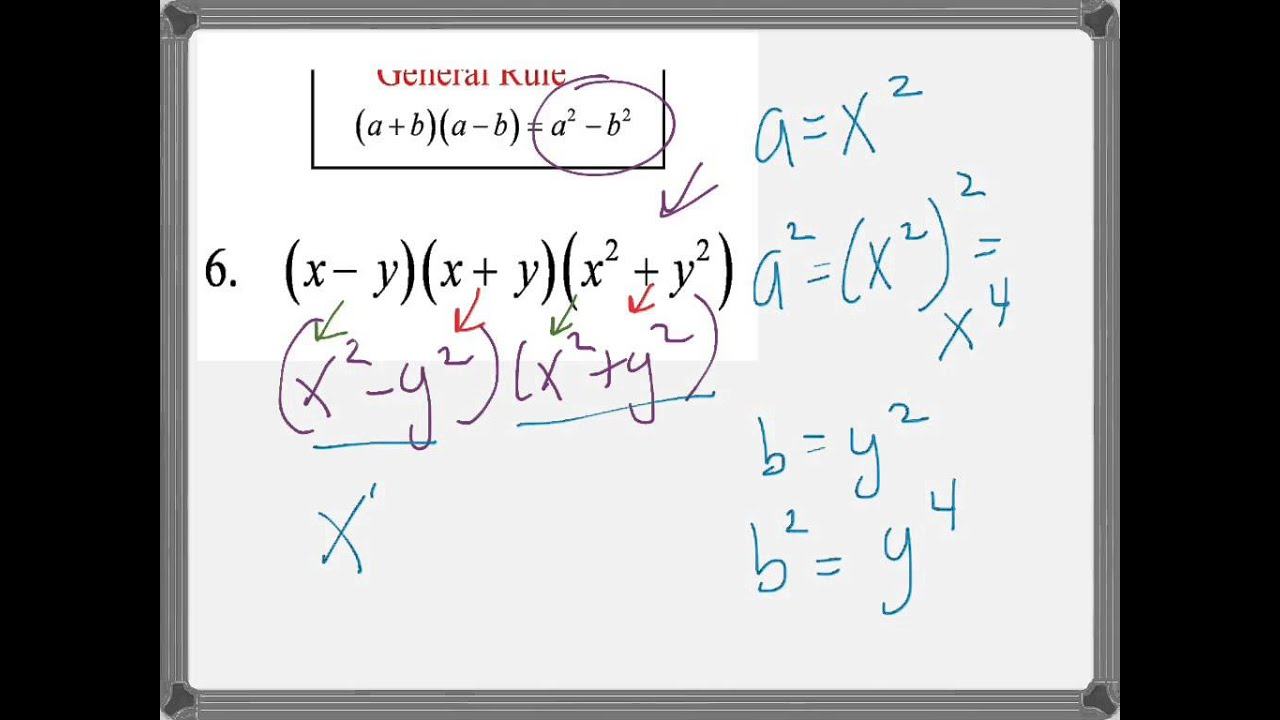 Product of Sum and Difference of Two Terms - YouTube