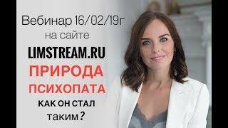 Природа психопата АНОНС вебинара 16 02 limstream ru проект Школа Здоровых Отношений