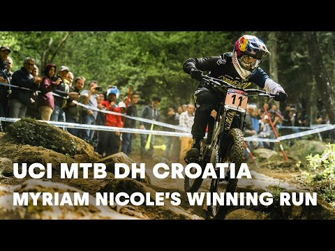 UCI MTB 2018: Myriam Nicole's winning downhill run in Croatia