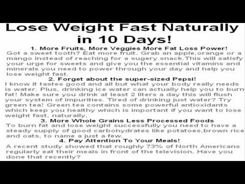 Lose Weight Fast Naturally in 10 Days