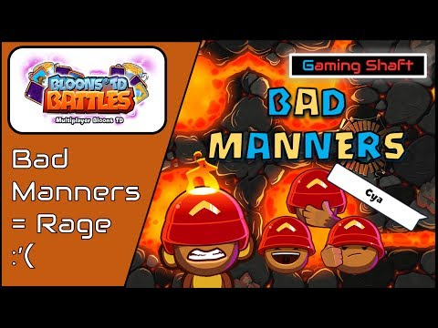 Bloons TD Battles - Dude BM's the Whole Game smh - ??MUTE Option - R3 Speed BFB Colosseum