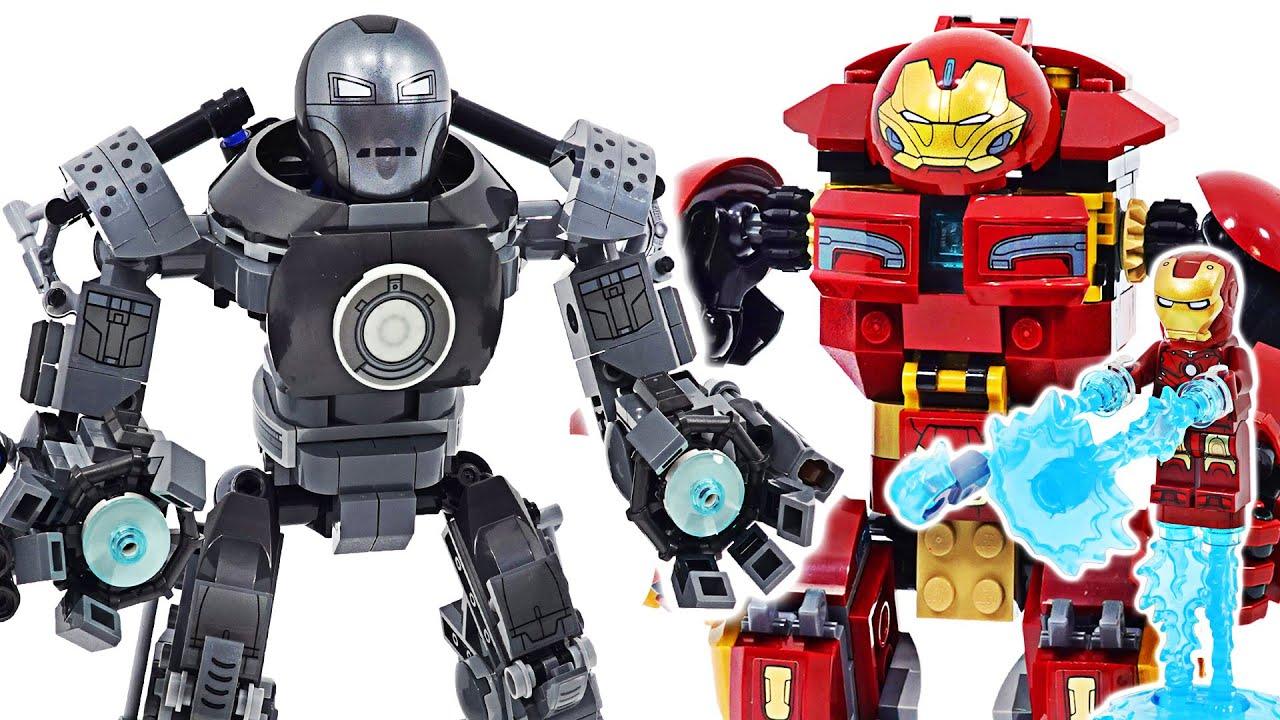Lego Marvel Avengers Iron Man VS Iron Monger robots Mayhem! | DuDuPopTOY