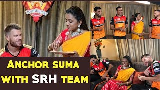 Anchor Suma having fun time with Sunrisers Hyderabad | David Warner | Gup Chup Masthi