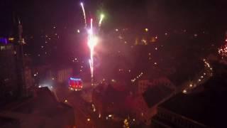 Kempten (Allgäu) - Silvester 2016/17 Feuerwerk | Dji Mavic Pro Fireworks