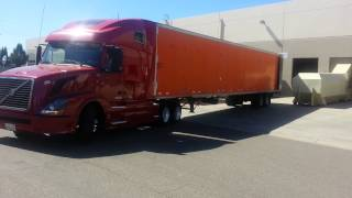 how to alley dock a semi truck with a trailer HD video