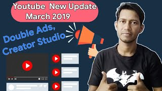 Double Ads, Creator mention, Storie Card View, Creator Studio 5 New Updates ! Youtube New Updates