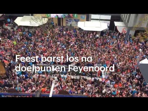 Rotterdam ontploft bij doelpunten Feyenoord - RTL NIEUWS