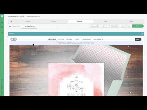 3 Minute Intro Tour: Creating Your Wedding Invitation