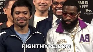 MANNY PACQUIAO VS. ADRIEN BRONER FULL FINAL PRESS CONFERENCE AND FACE OFF