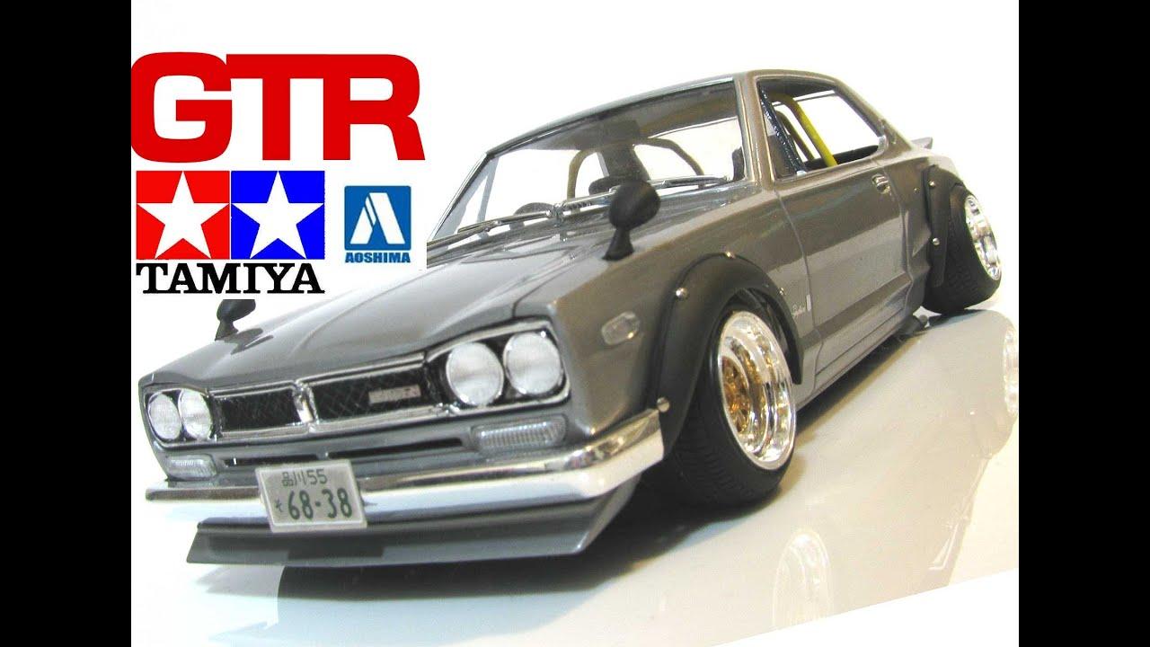 タミヤ アオシマ 日産スカイライン 街道レーサー ハコスカ Nissan Gtr 改造プラモデル 改修 Ht2000