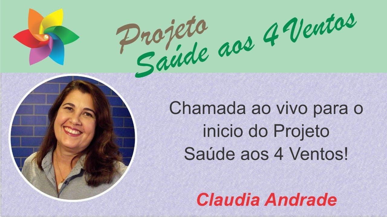 "CHAMADA AO VIVO PARA O BATE PAPO  ""ARTETERAPIA"" - CLAUDIA ANDRADE"