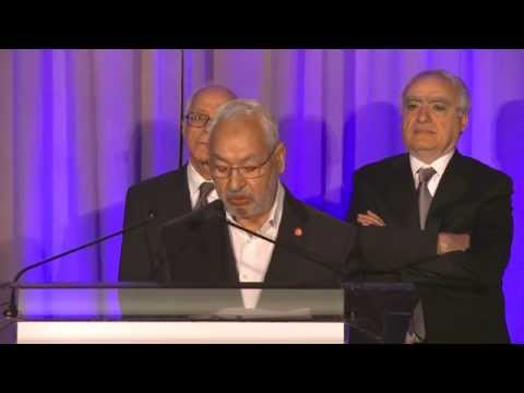 Béji Caïd Essebsi and Rached Ghannouchi at the In The Pursuit of Peace Award Dinner 2015