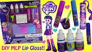 MLP Equestria Girls DIY Lip Gloss Set! Make Your Own Scented Shimmer Lip Gloss! Blind Bags Surprise