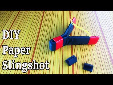 How to Make a Paper Catapult Design Slingshot | Primitive Technology Sling