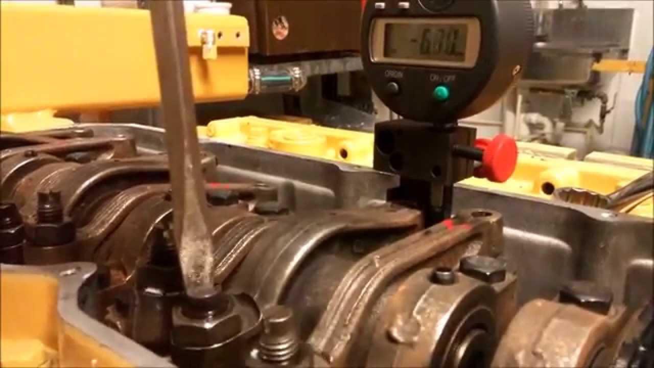 3126 overhead valve setting by Ocean Marine  YouTube