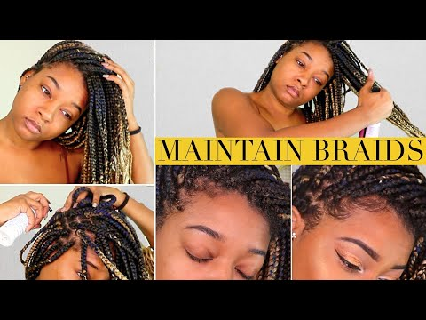 Maintain Box Braids | How to Wash Scalp, Stop Itching, Flakes, & Frizz + Moisturize Hair