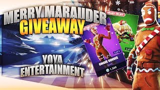 Merry Marauder Giveaway ! | - Fortnite Live - VBucks Giveaway Live | 500 Wins | Pro Player !
