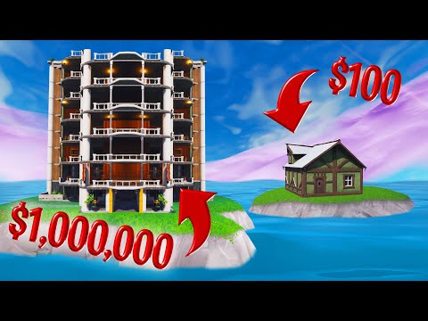 BUILD The BIGGEST House Challenge In FORTNITE! (Creative Mode)