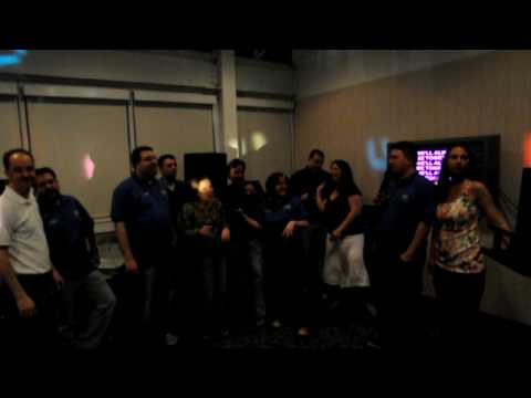 The whole group from SQL Saturday Chicago Karaoke