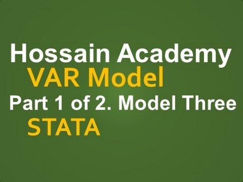 VAR Model  Model Three  Part 1 of 2  STATA