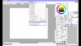 Настраиваем и знакомимся с рабочим местом в Easy Paint Tool SAI