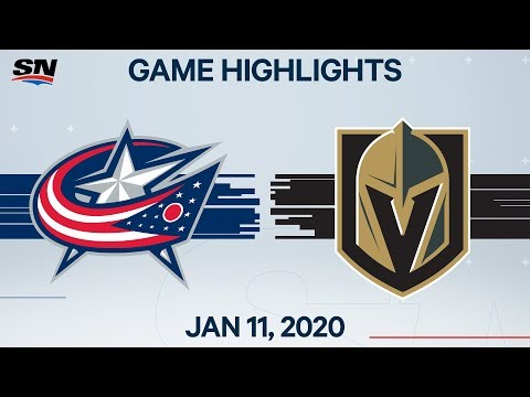 NHL Highlights | Blue Jackets vs. Golden Knights – Jan. 11, 2020
