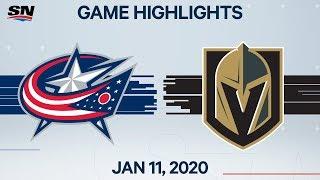 NHL Highlights   Blue Jackets vs. Golden Knights – Jan. 11, 2020
