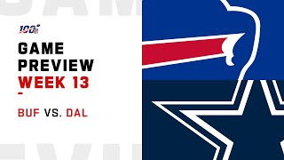 Buffalo Bills vs Dallas Cowboys Week 13 NFL Game Preview