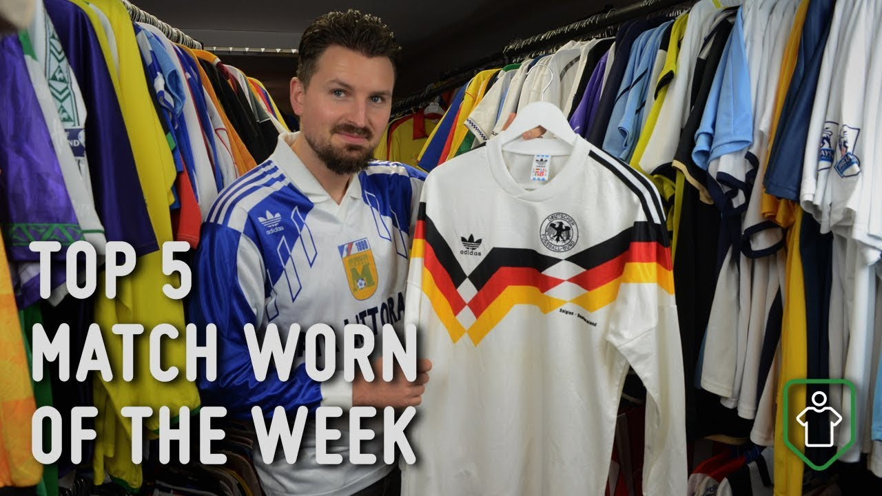 95f3a2236 Classic Football Shirts  This Week s Top 5 Match Worn - YouTube